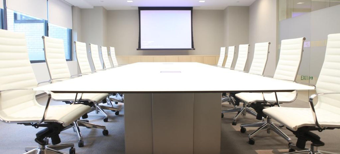Corporate - Custom glass conference table